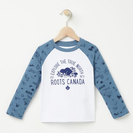 Roots-Kids New Arrivals-Toddler Max Baseball Top-Copen Blue-A