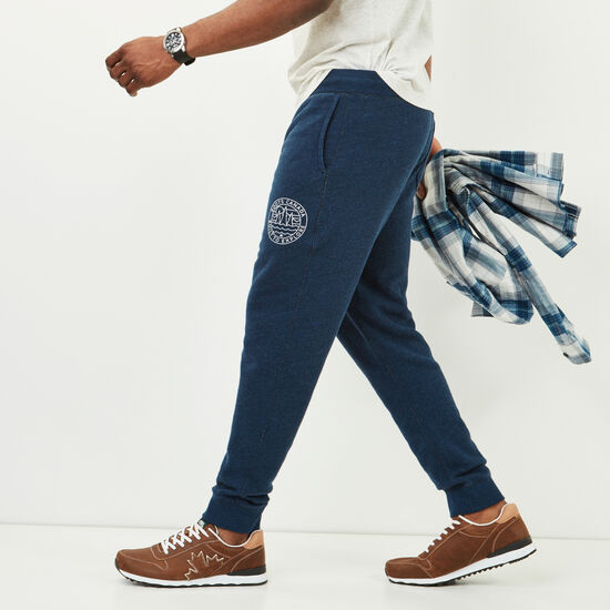 Roots-Men Slim Sweatpants-True North Sweatpant-Indigo Mix-A