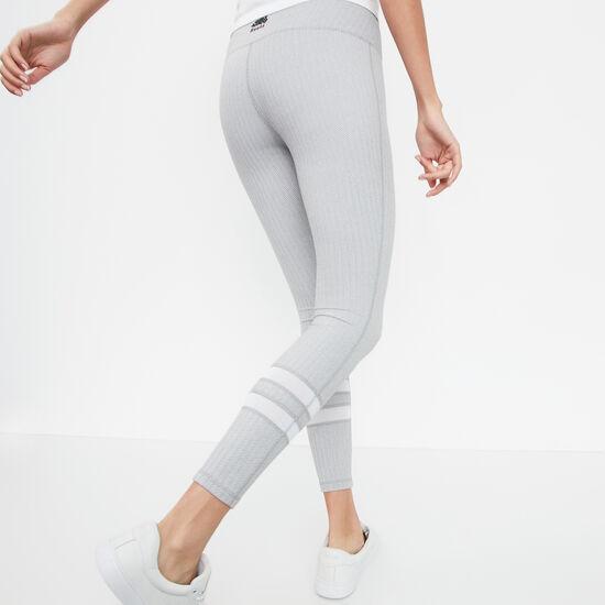 Roots-Femmes Pantalons-Legg Pan Maille Tail Haute-Mélange Blanc-A