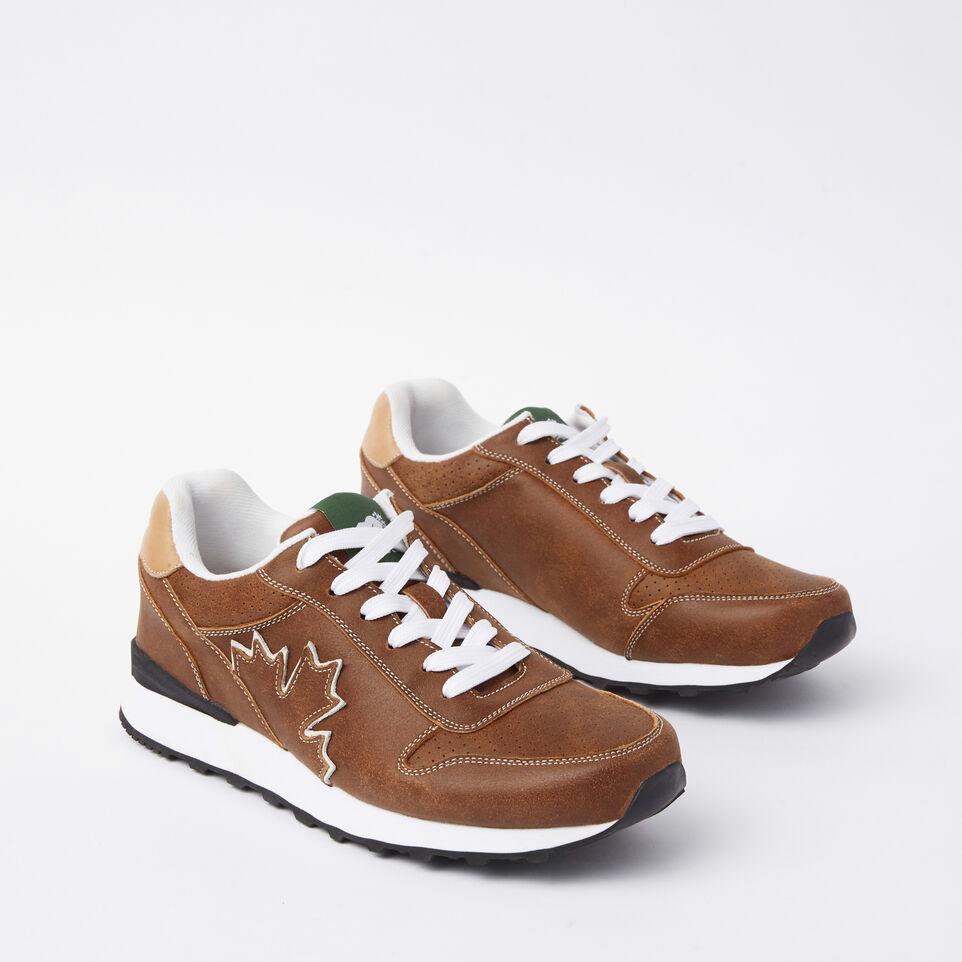 Roots-undefined-Chaussures de course Trans-Canadian en cuir Tribe pour hommes-undefined-B