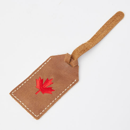 Roots-Leather Small Leather Goods-Maple Leaf Luggage Tag Tribe-Africa-A
