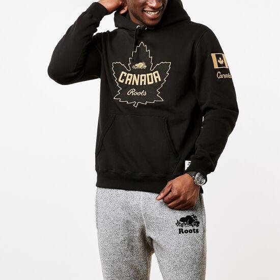 Roots-Men Sweatshirts & Hoodies-Mens Roots Heritage Hoody-Black-A