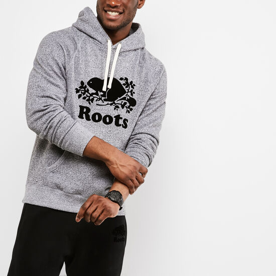Roots-Men Sweatshirts & Hoodies-Roots Salt and Pepper Original Kanga Hoody-Salt & Pepper-A