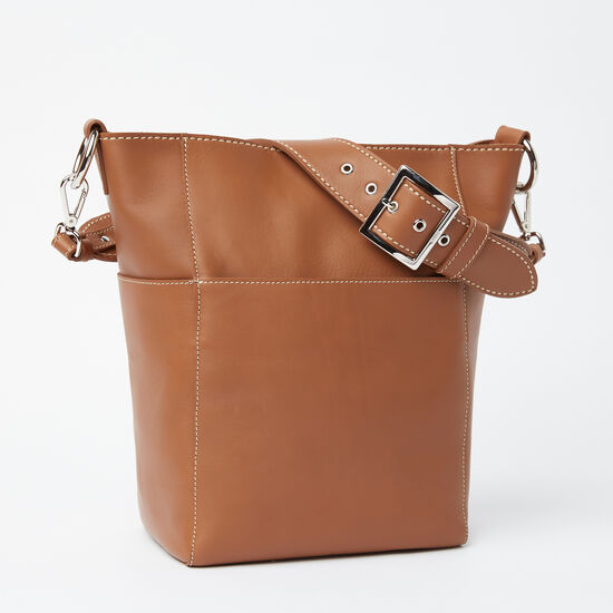 Roots-Women Totes-Equestrian Bucket Bridle-Tan-A