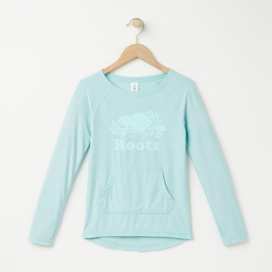 Roots-Kids Girls-Girls Dover Tunic-Pastel Turquoise Mix-A