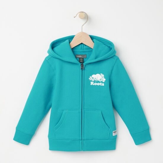 Roots-Kids Toddler Girls-Toddler Original Full Zip Hoody-Bluebird-A