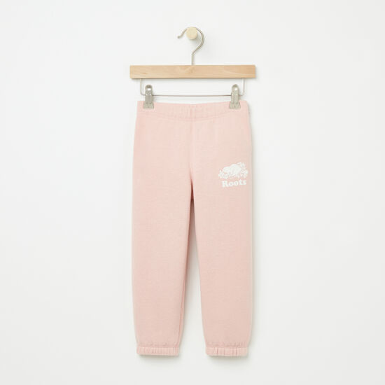 Roots-Kids Bottoms-Toddler Slim Sweatpant RTS-Silver Pink-A