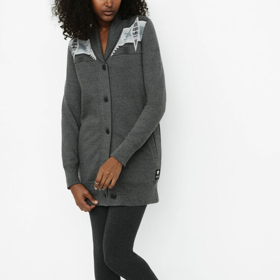 Roots-Women Sweaters & Cardigans-Pendleton Cardigan-Steel Grey Pepper-A