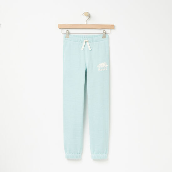 Roots-Kids Bottoms-Girls Pepper Slim Sweatpant-Pastel Turquoise Ppr-A