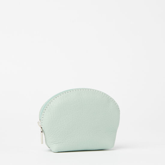 Roots-Women Leather Pouches-Small Euro Pouch Prince-Seafoam-A