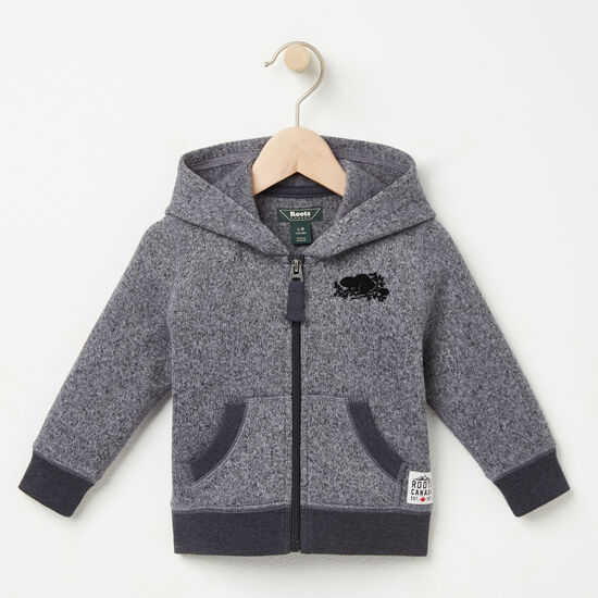 Roots-Kids New Arrivals-Baby Dawson Full Zip-Black Mix-A