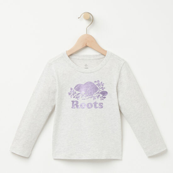Roots-Kids New Arrivals-Toddler Cooper Beaver T-shirt-Snowy Ice Mix-A