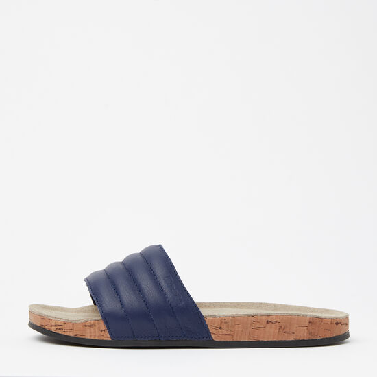 Roots-Shoes Women's Shoes-Womens Roots Slide Leather-Navy-A