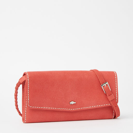 Roots-Women Bags-Eve Wallet Bag Tribe-Coral-A