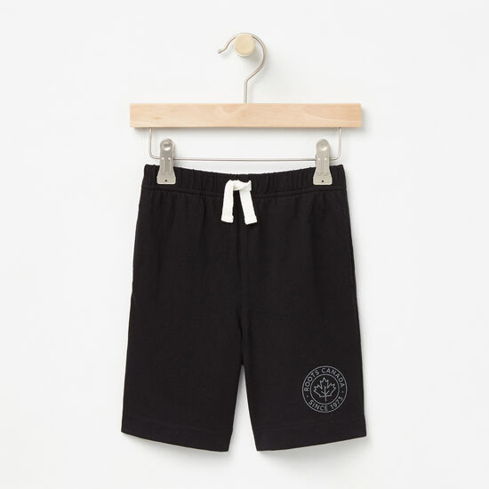 Roots-Kids Bottoms-Toddler Camp Pull On Shorts-Black-A