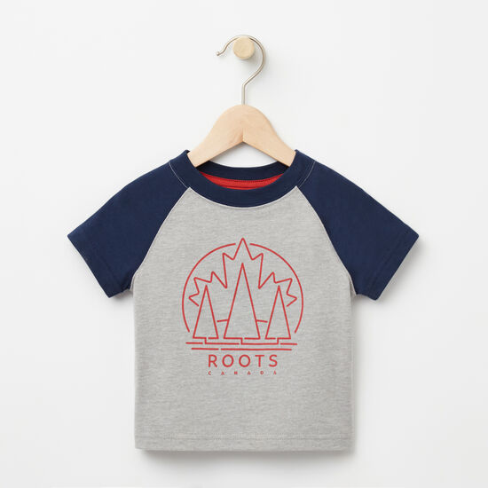 Roots-Kids Baby Boy-Baby Moncton Raglan Top-Grey Mix-A
