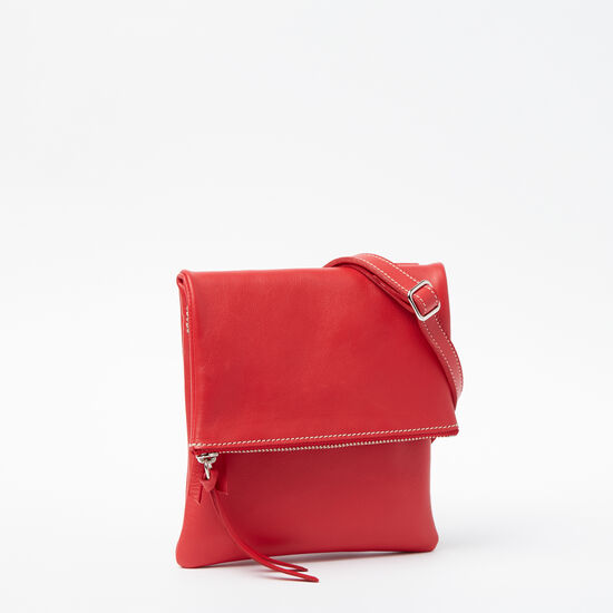 Roots-Women Mini Leather Handbags-Small Jessie Bag Bolzano-Scarlet-A