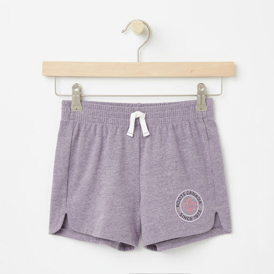 Roots-Kids Bottoms-Girls Lucy Shorts-Valley Purple-A