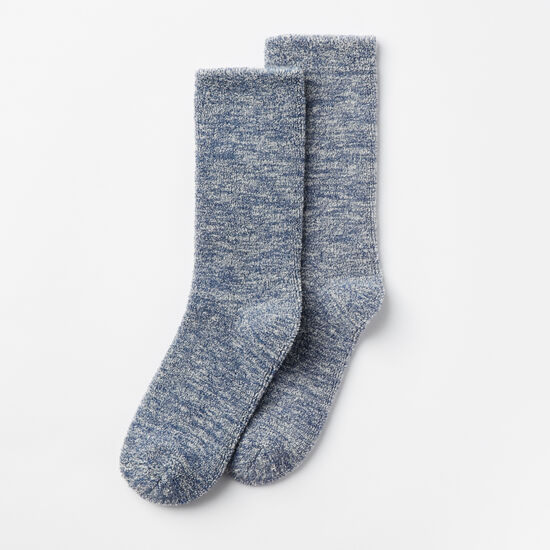 Roots-Women Socks-Womens Trail Crew Sock-Steel Blue-A