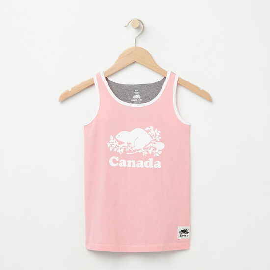 Roots-Kids Canada Collection-Girls Cooper Canada Tank-Peony Pink-A