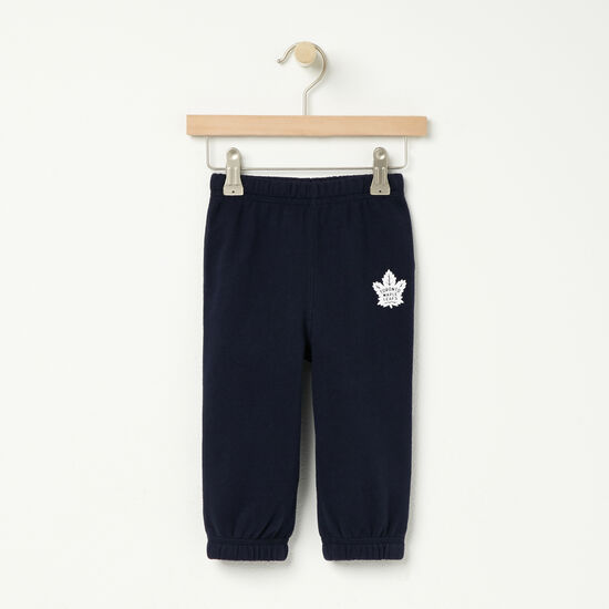 Roots-Kids Toronto Maple Leafs-Baby TML Trainers Original Sweatpant-Navy Blazer-A