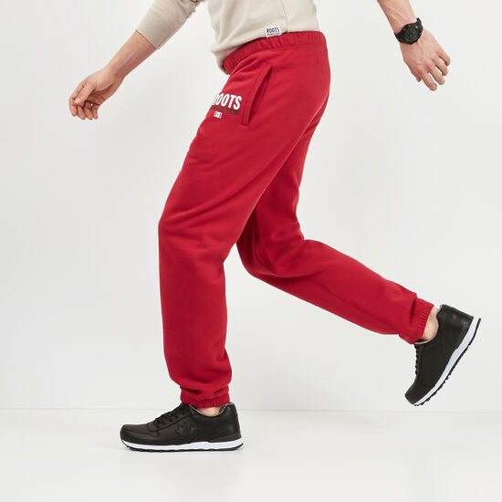Roots-Men Original Sweatpants-Roots Re-issue Classic Sweatpant-Scooter Red-A