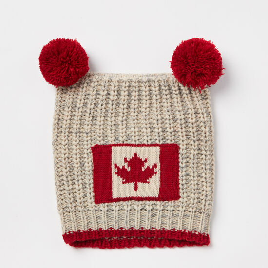 Roots-Kids Baby Boy-Baby Canadiana Toque-Grey Mix-A