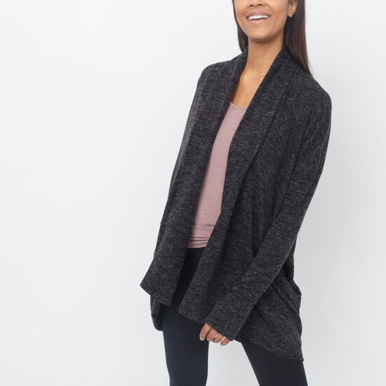 Roots-Women Sweaters & Cardigans-Kismet Cardi-Charcoal Mix-A