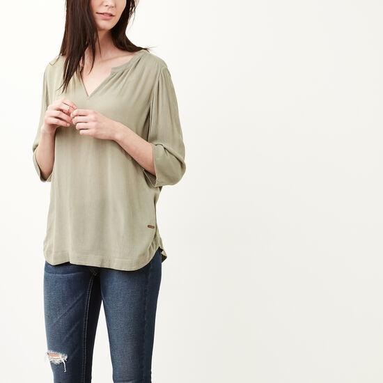 Roots-Women Shirts-Bryn Top-Lichen-A