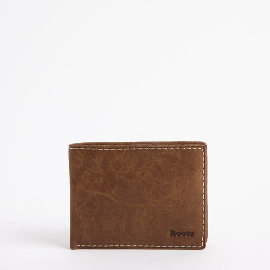 Roots-Leather Men's Wallets-Mens Slimfold Top Flap Tribe-Africa-A