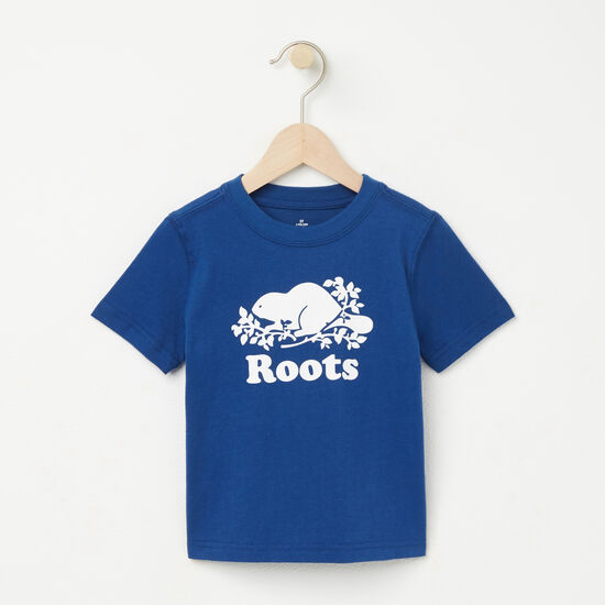 Roots-Kids T-shirts-Toddler Cooper Beaver T-shirt-Anchor Lake Blue-A