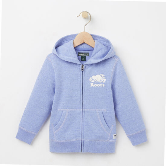 Roots-Kids Toddler Girls-Toddler Colour Pepper Original Full Zip Hoody-Deep Periwinkle Ppr-A