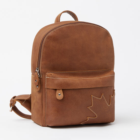 Roots-Leather Features-Trans Canada Backpack Tribe-Africa-A