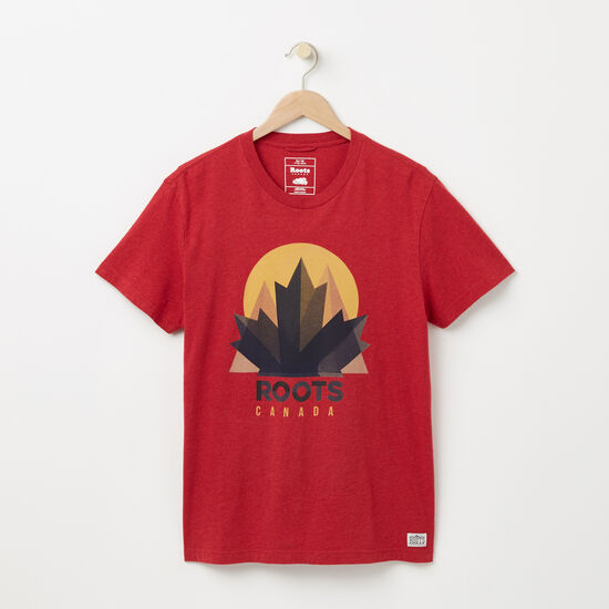 Roots-Men Graphic T-shirts-Nobel T-shirt-Moroccan Red Mix-A