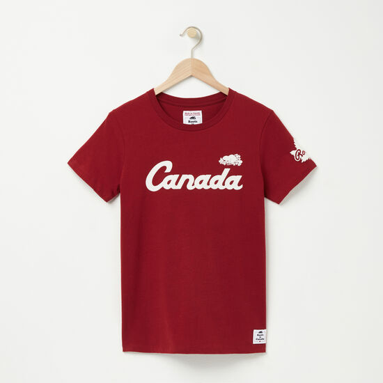 Roots-Women Canada Collection By Roots™-Womens Roots Heritage T-shirt-Vintage Red-A