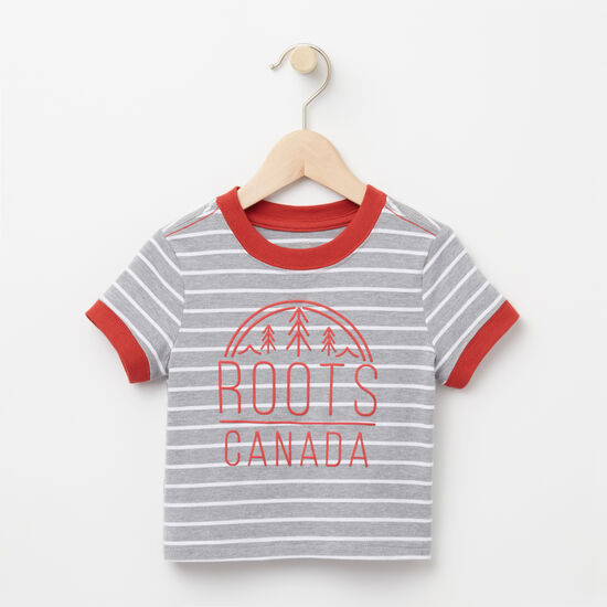 Roots-Kids Baby Boy-Baby Moncton Ringer Top-Grey Mix-A