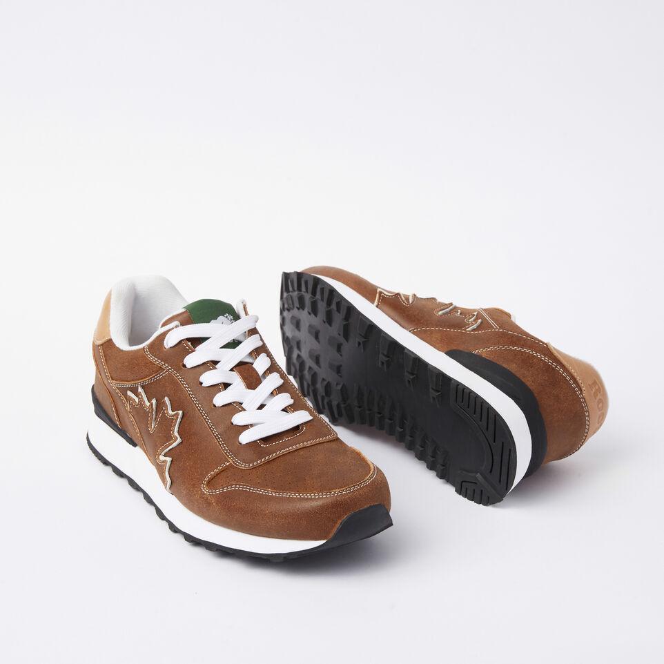 Roots-undefined-Chaussures de course Trans-Canadian en cuir Tribe pour hommes-undefined-E