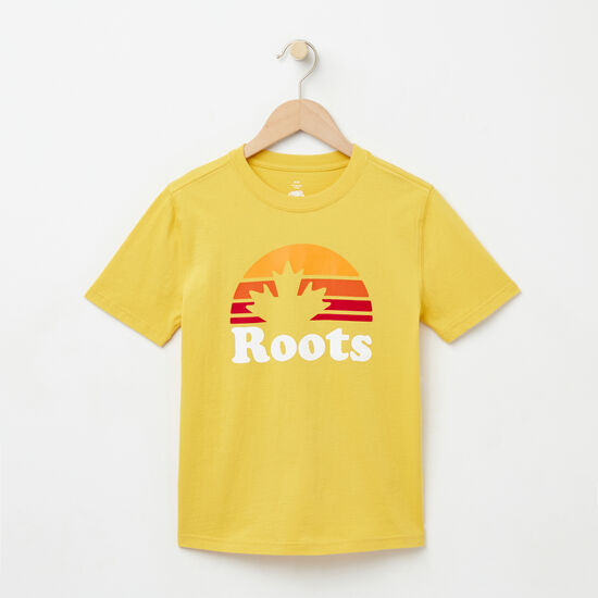 Roots-Kids T-shirts-Boys Maple Sunrise T-shirt-Bamboo-A