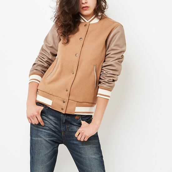 Roots-Women New Arrivals-Sorority Jacket Melton/Tribe-Camel-A