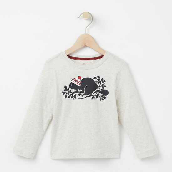 Roots - Toddler Pom Pom Beaver T-shirt