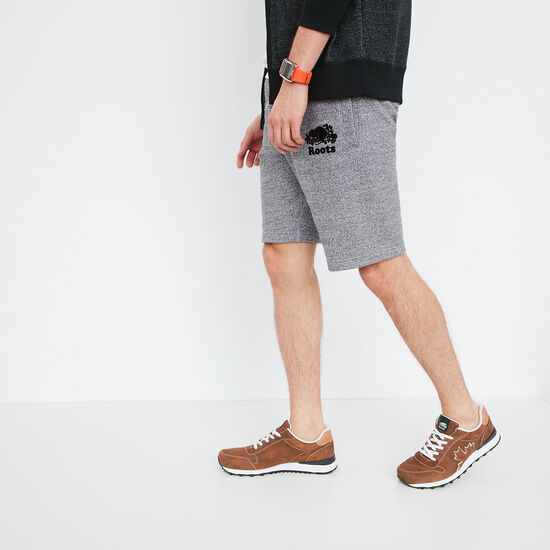 Roots-Men Shorts-Heritage Fleece Shorts-Salt & Pepper-A