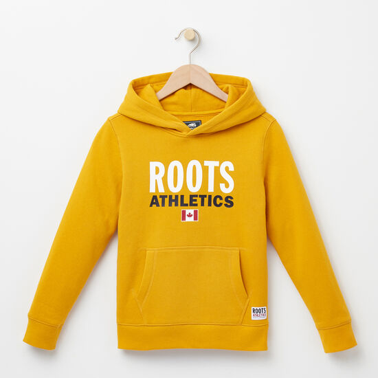 Roots-Kids Roots Re-issue-Boys Roots Re-issue Kanga Hoody-Ancient Gold-A