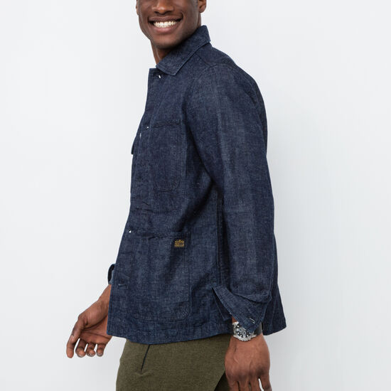 Roots-Sale Men's-Lakeview Chore Jacket-Indigo-A