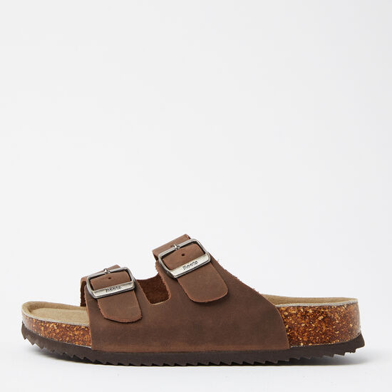 Roots-Shoes Sandals-Womens Natural Roots 2 Strap Sandal-Brown-A