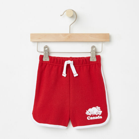 Roots-Kids Toddler Girls-Toddler Cooper Canada Shorts-Sage Red-A