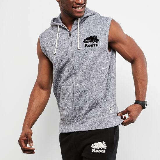 Roots-Men Sweatshirts & Hoodies-Sleeveless Zip Hoody-Salt & Pepper-A
