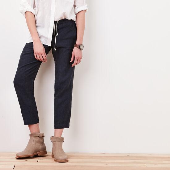Roots-Women Pants-Sekura Pant-Indigo Blue-A