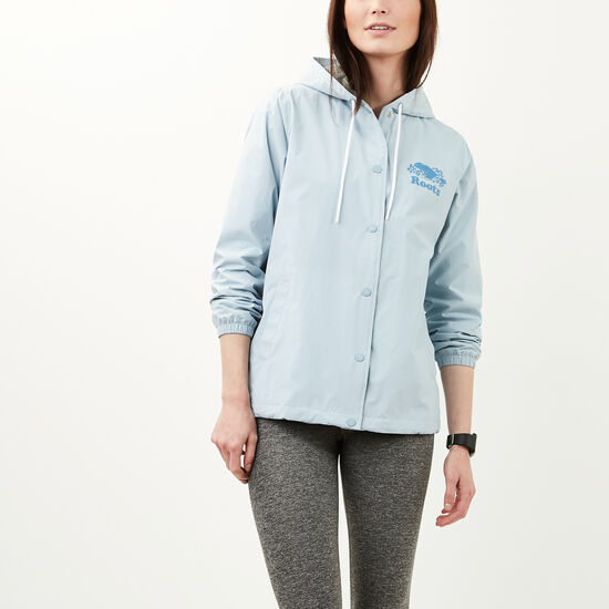 Roots-Women Jackets-Carolina Coaches Jacket-Celestial Blue-A