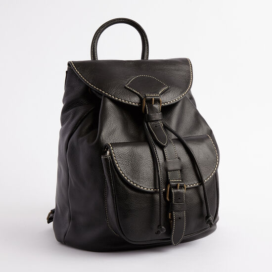 Roots-Women Backpacks-Papa Alex Prince-Black-A