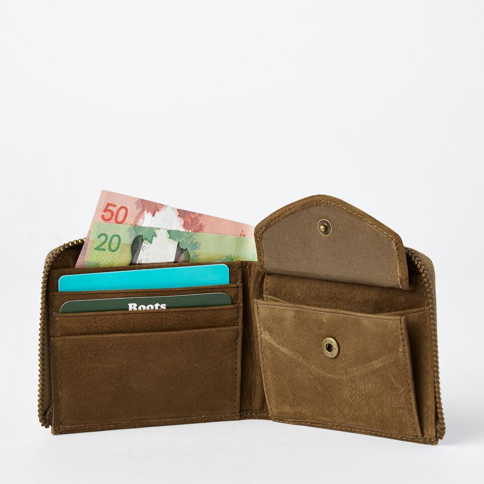 Roots-undefined-Mens Half Zip Wallet Waterbuck-undefined-B